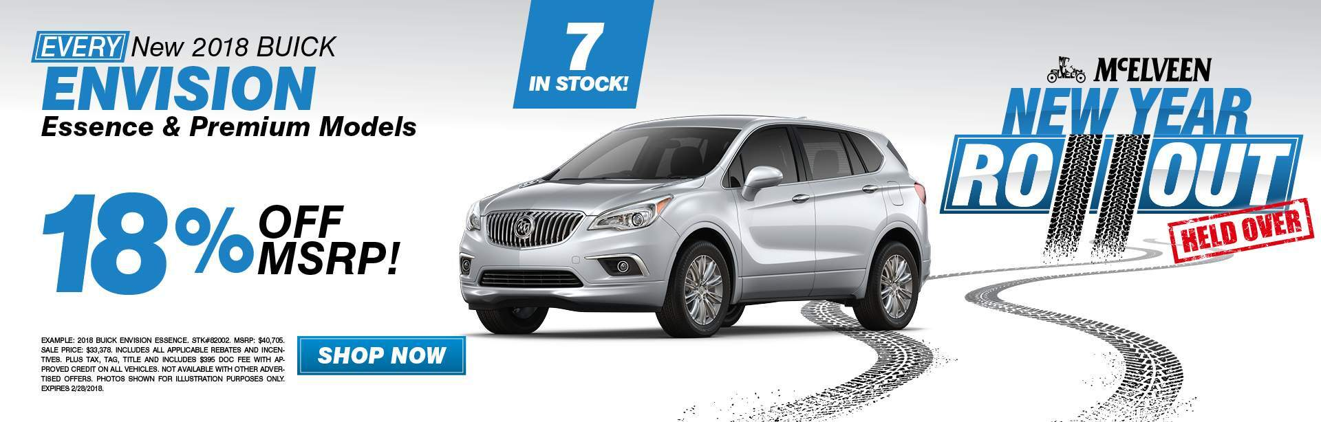 New 2018 Buick Envision