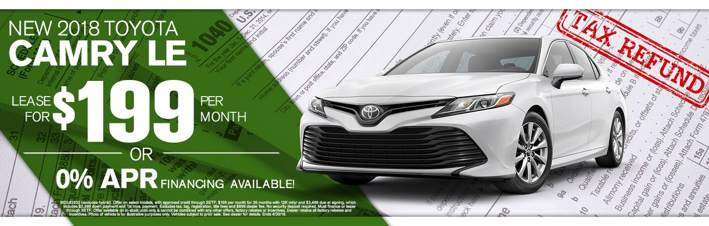 2018 Toyota Camry Tax Return