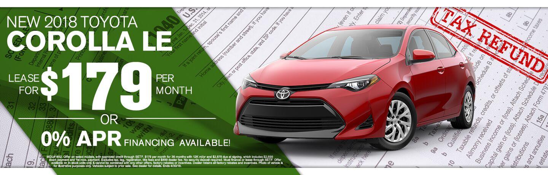 2018 Toyota Corolla Tax Return