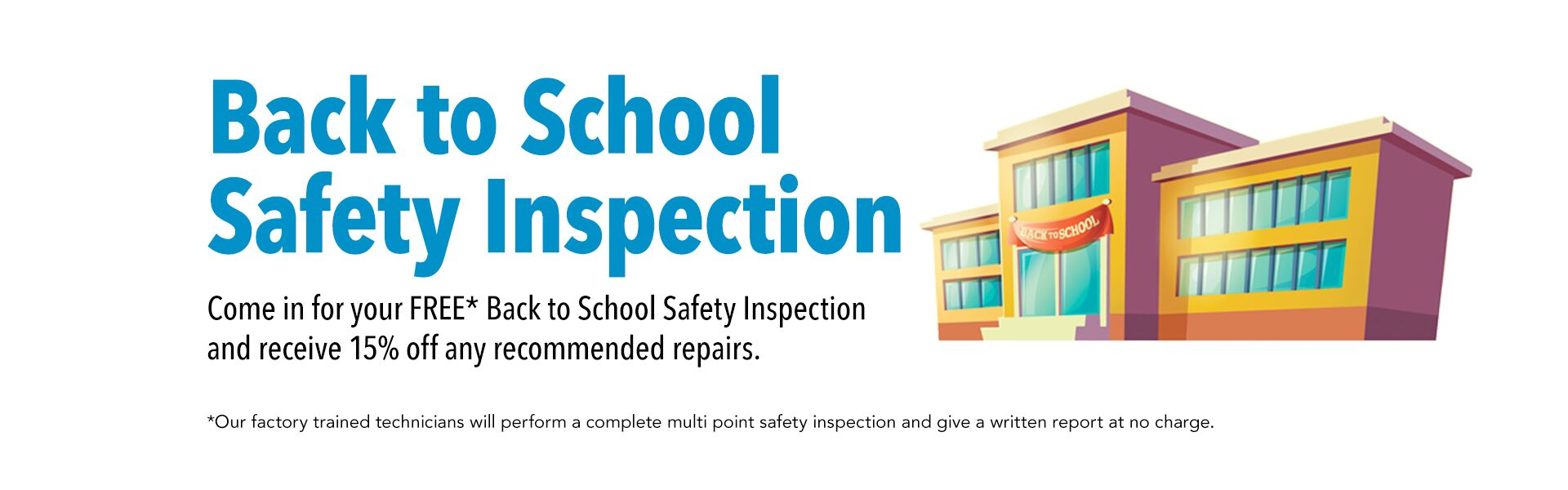 Back to School Safety Inspection
