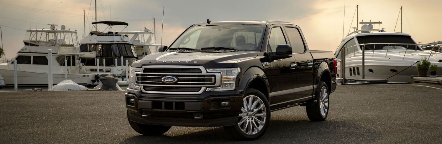 2019 ford f-150 limited at a shipyard