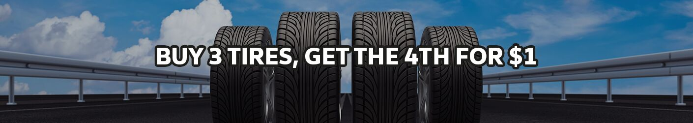 Buy 3 tires, get 1 for $1.00