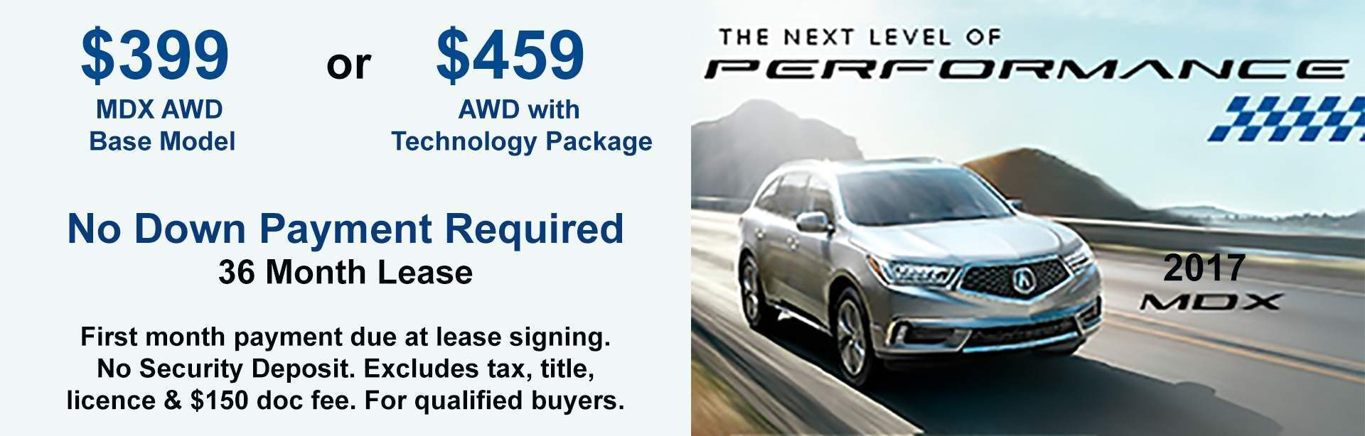 MDX Lease Specials