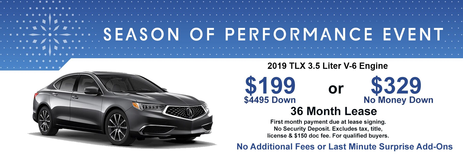 2019 TLX Lease Special