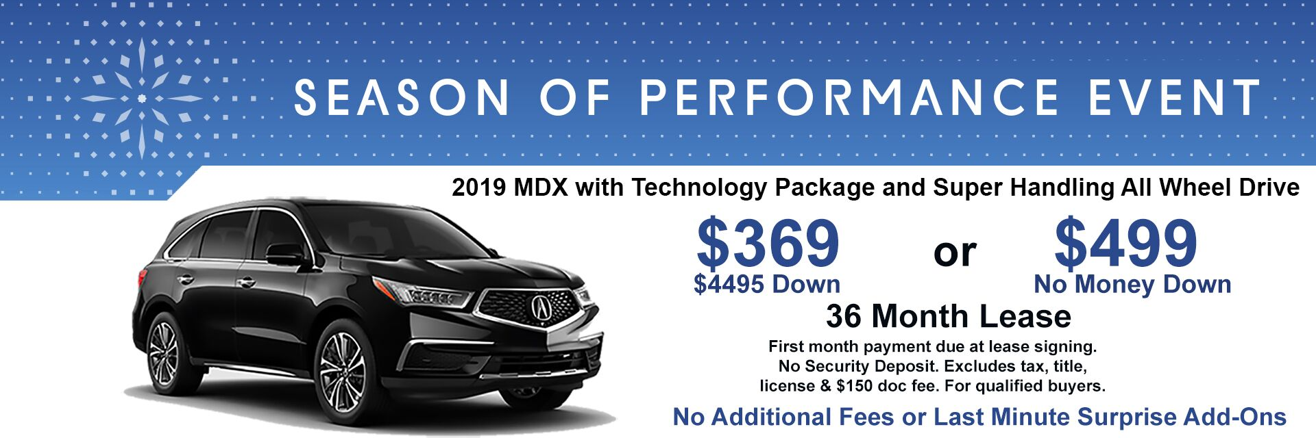2019 MDX Lease Special