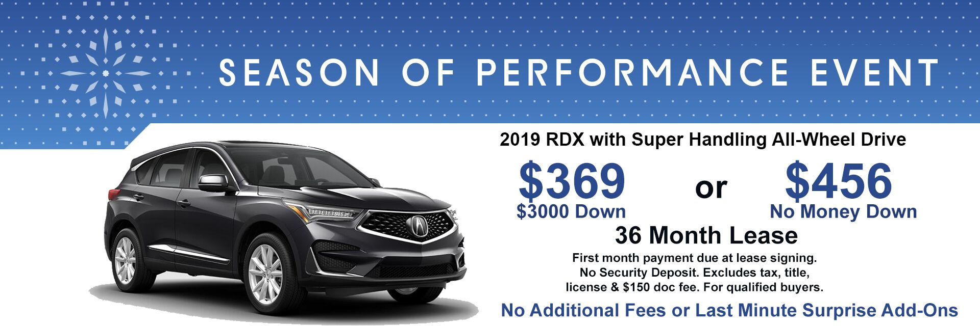 2019 RDX Lease Special