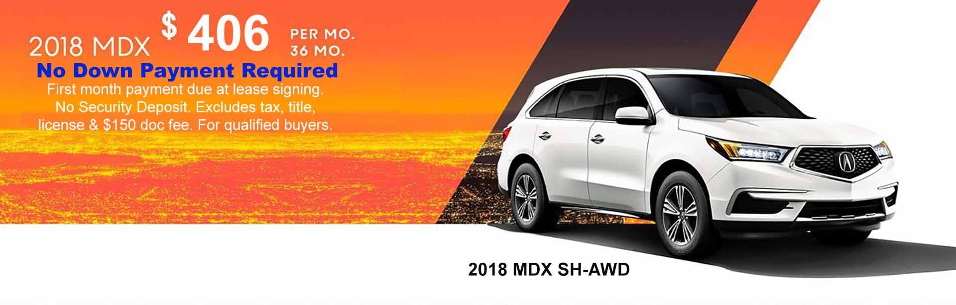 2018 MDX Lease Special