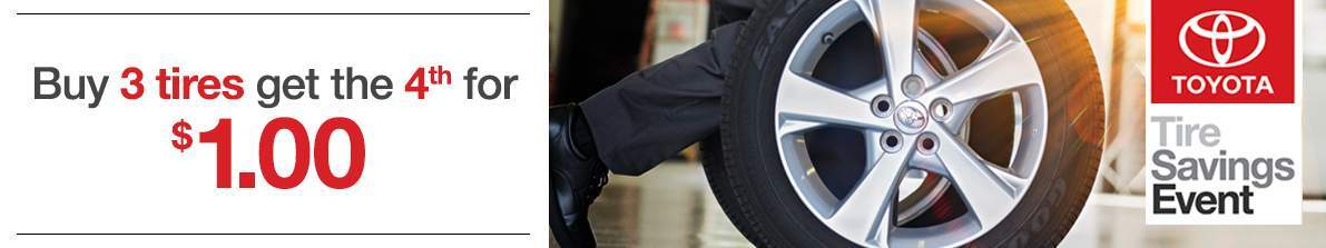 Toyota Tire Promotion Buy 3 Get 1 Free