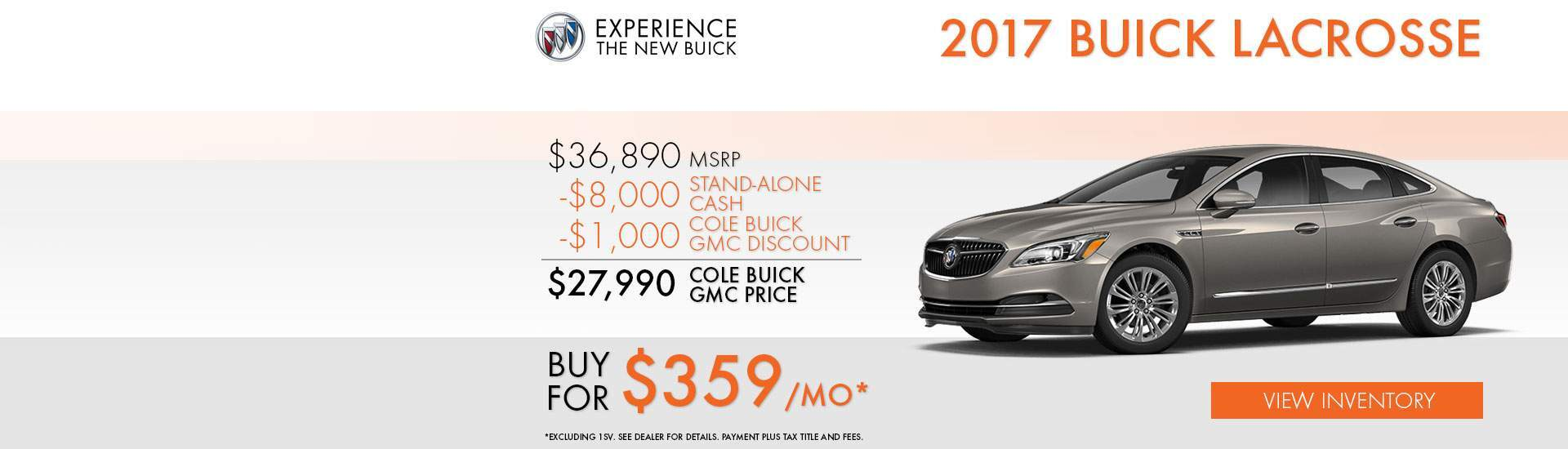 2017 Buick Lacrosse Special