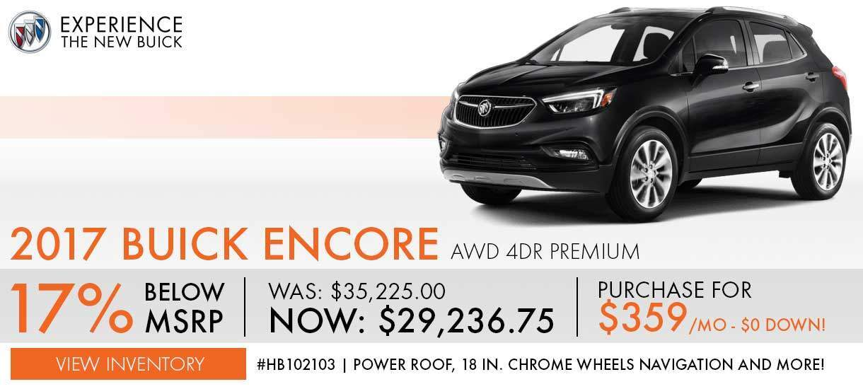 2017 Buick Encore Special Mobile Slide