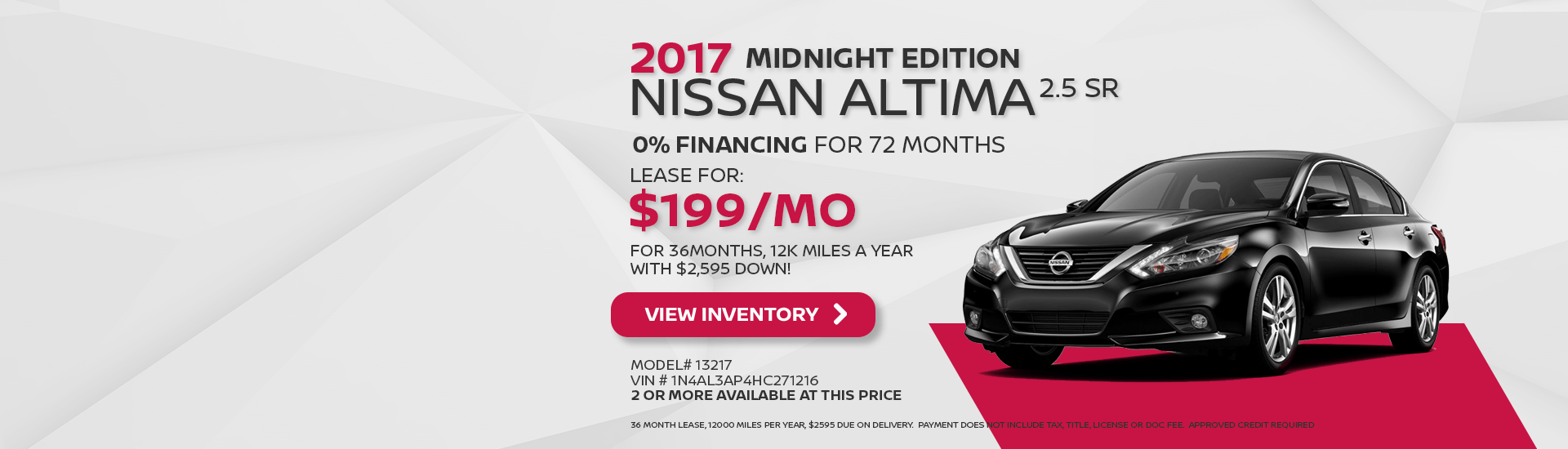 2017 Altima Midnight Edition Special