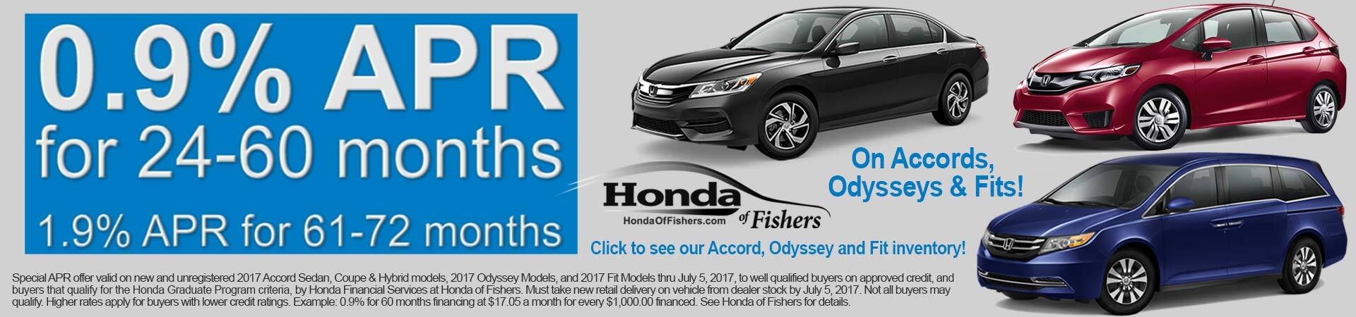 Special APR on Accord Odyssey or Fit