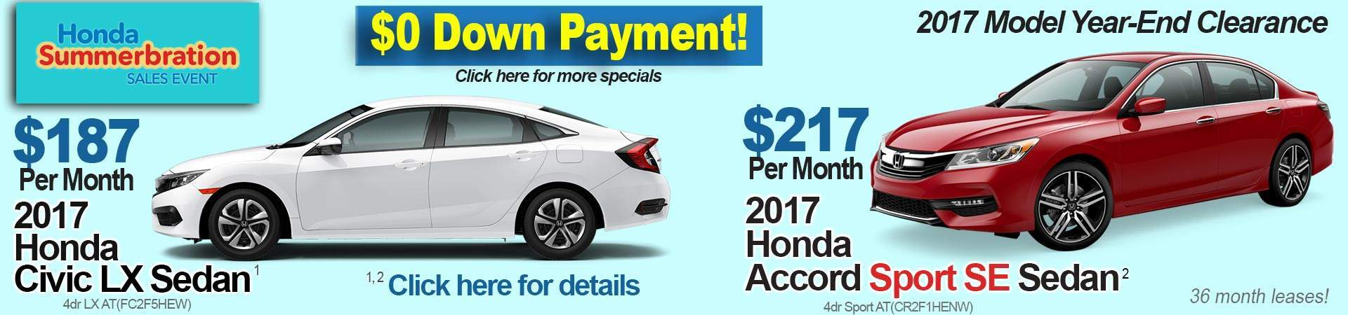 New specials at Honda of Fishers