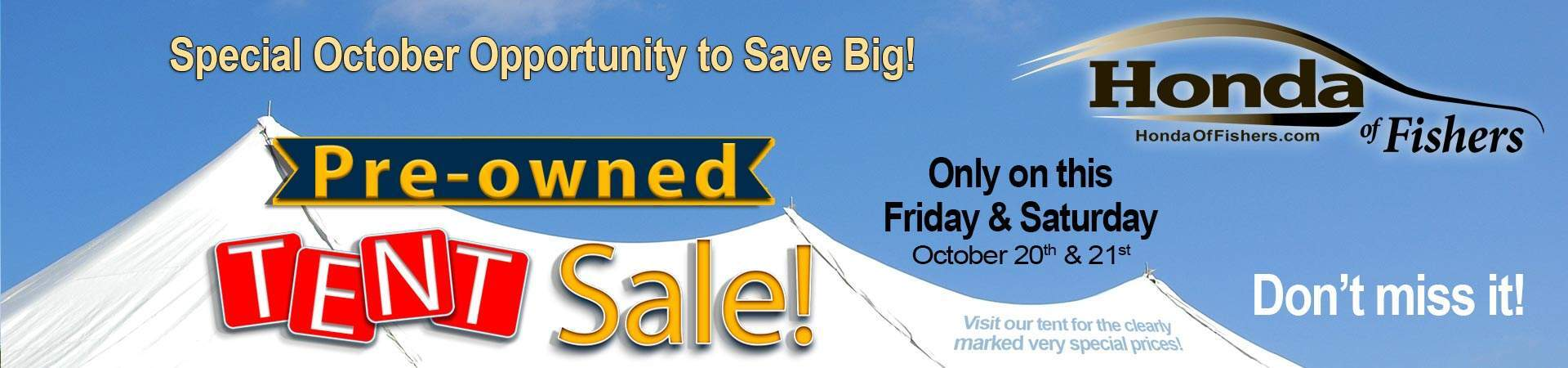 Used Car Tent Sale