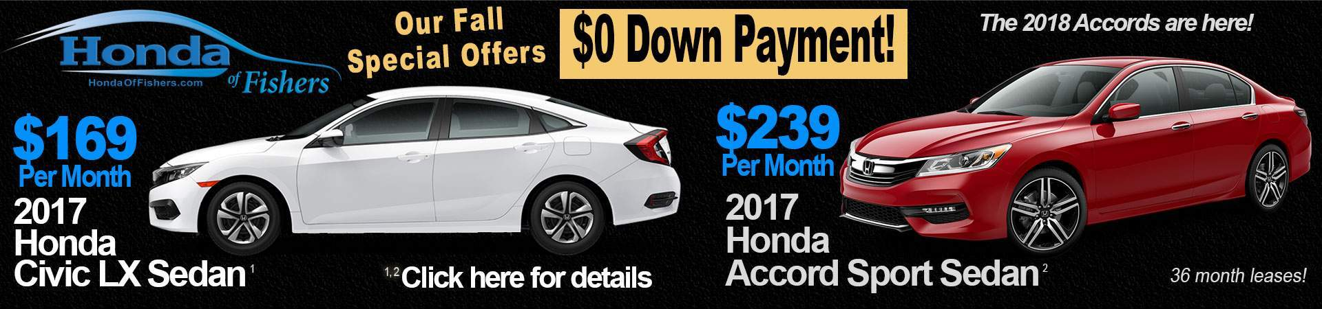 Web specials at Honda of Fishers