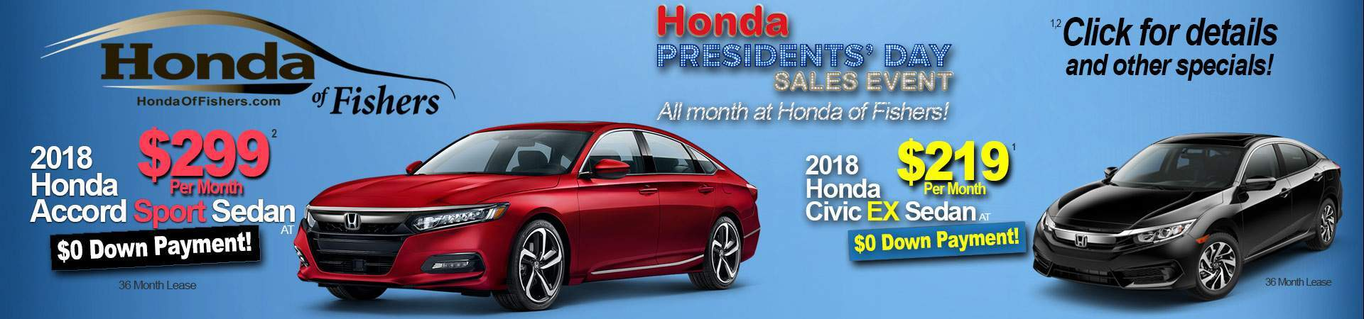 February specials at Honda of Fishers