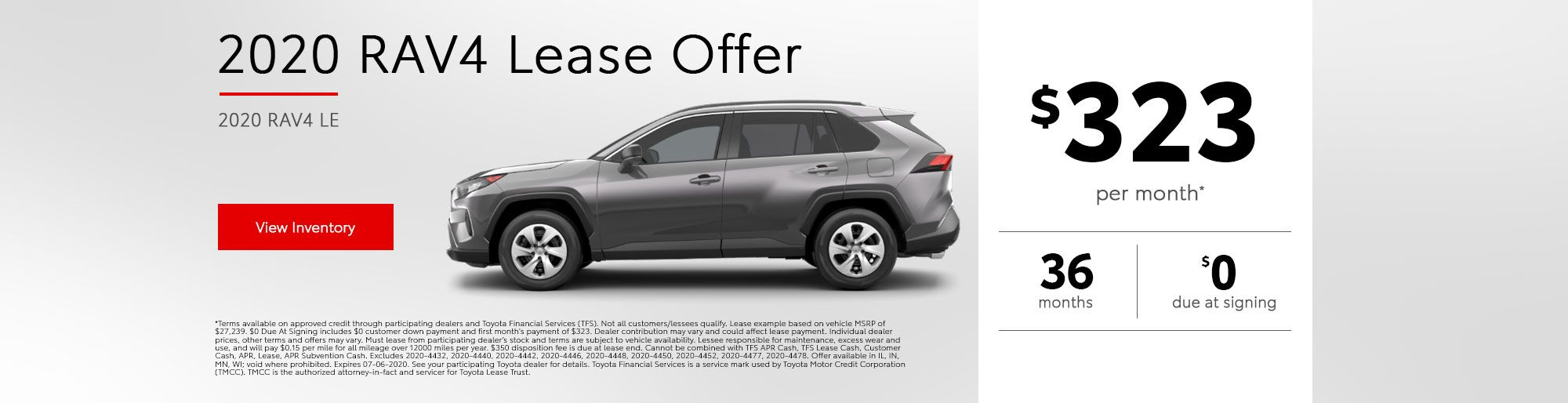 2020 Rav4 Lease Offer