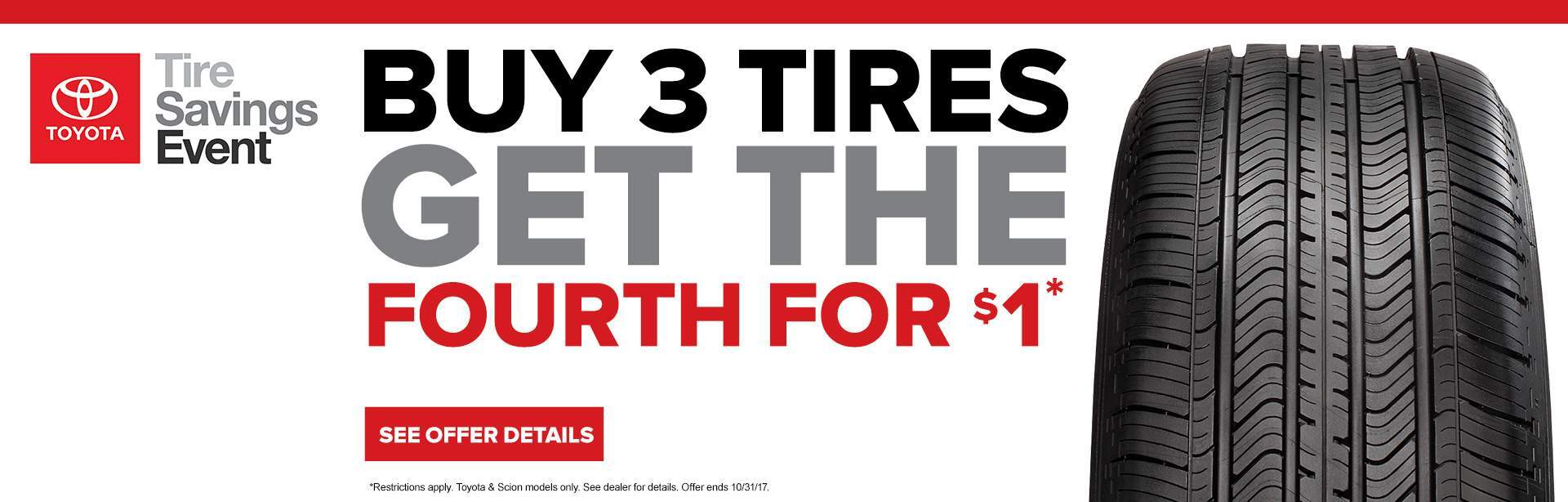 October Tire Savings