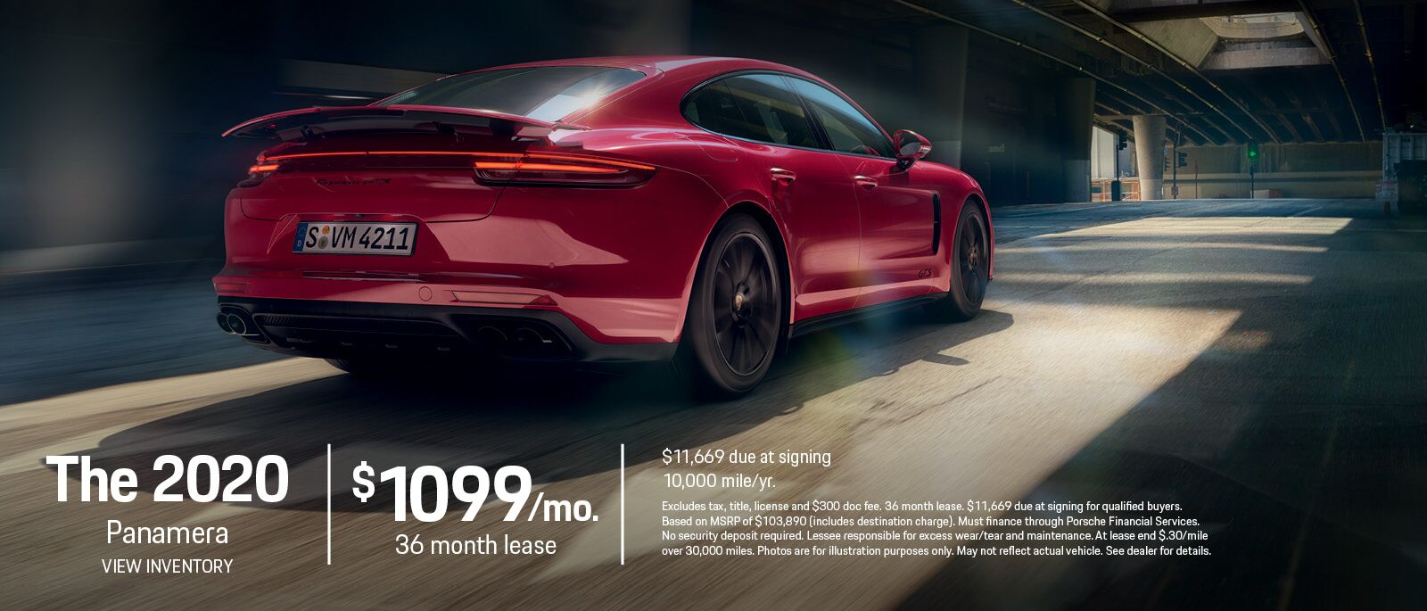 2020 Panamera Lease Offer