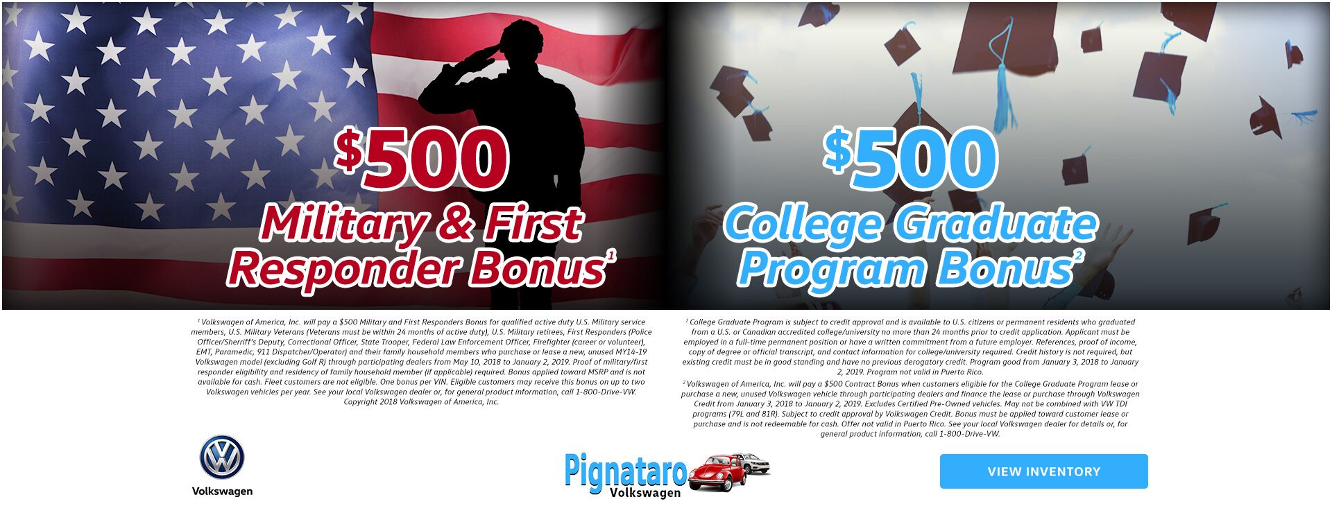 College Grad and Military Bonus