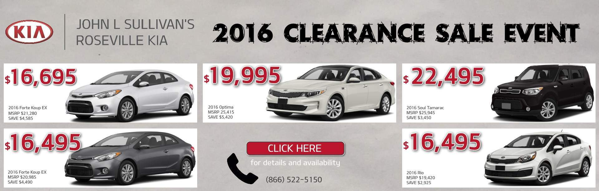 New 2016 Clearance Sale