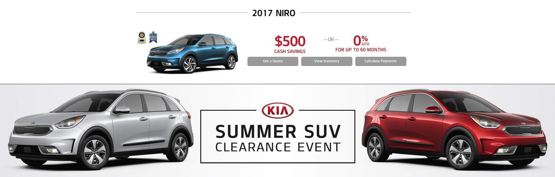 Summer SUV Clearance Event: NIRO