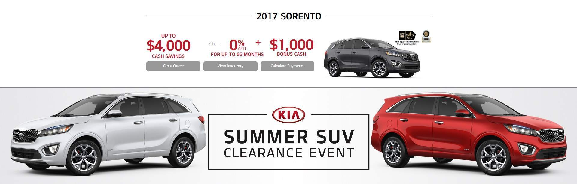 Summer SUV Clearance Event: SORENTO