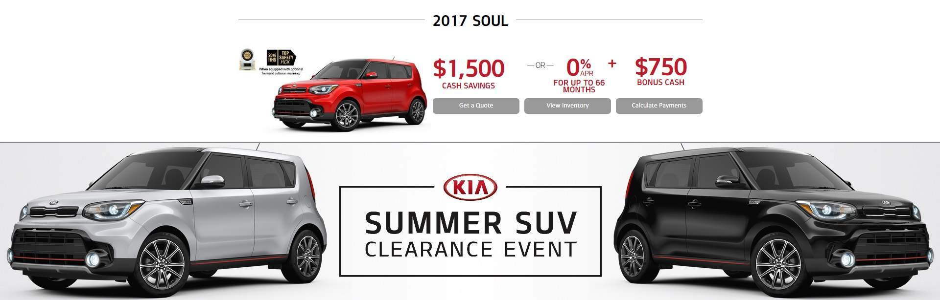 Summer SUV Clearance Event: SOUL