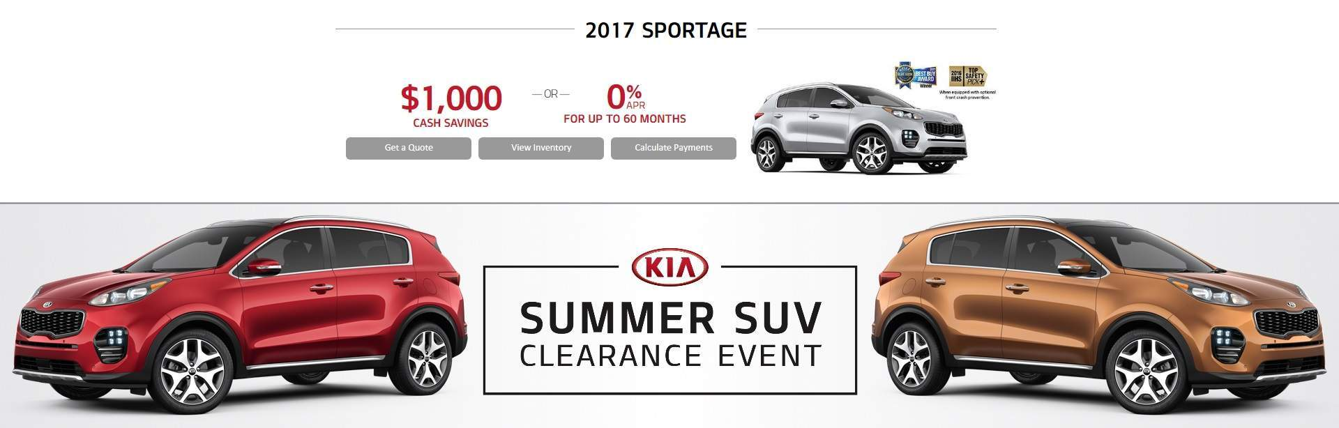 Summer SUV Clearance Event: SPORTAGE