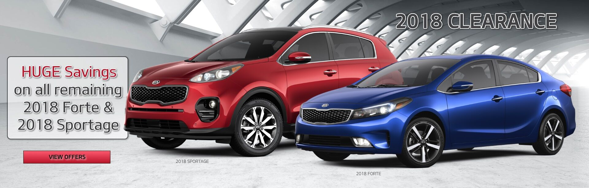 2018 Sportage and Forte Clearance