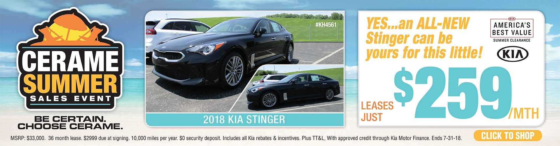 New Kia Stinger is here at the dealership!