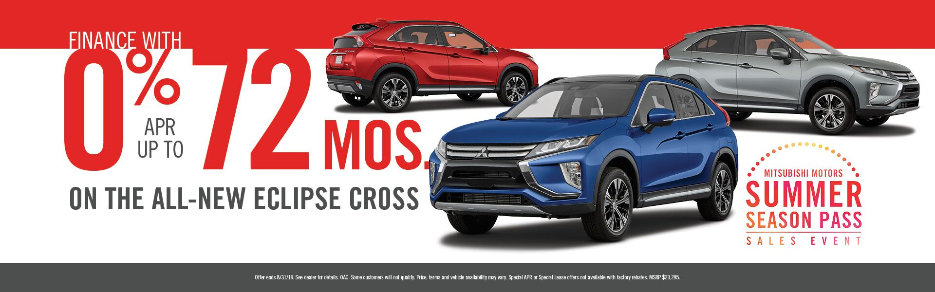 0% for 72 - Eclipse Cross