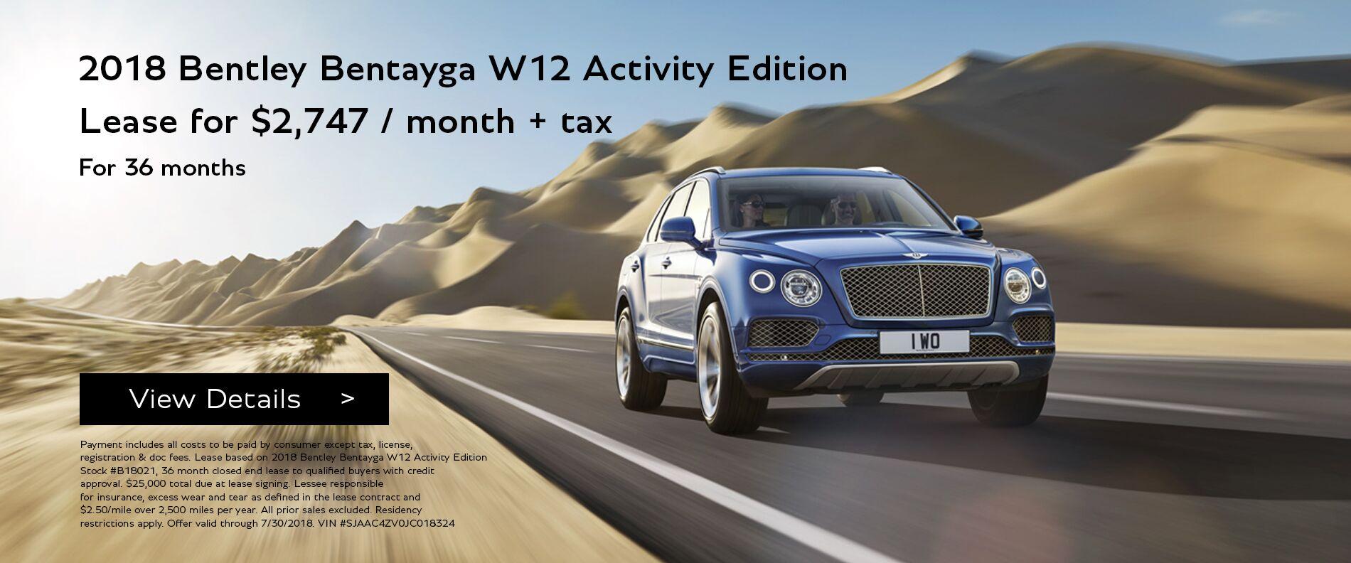 2018 Bentayga Activity Edition