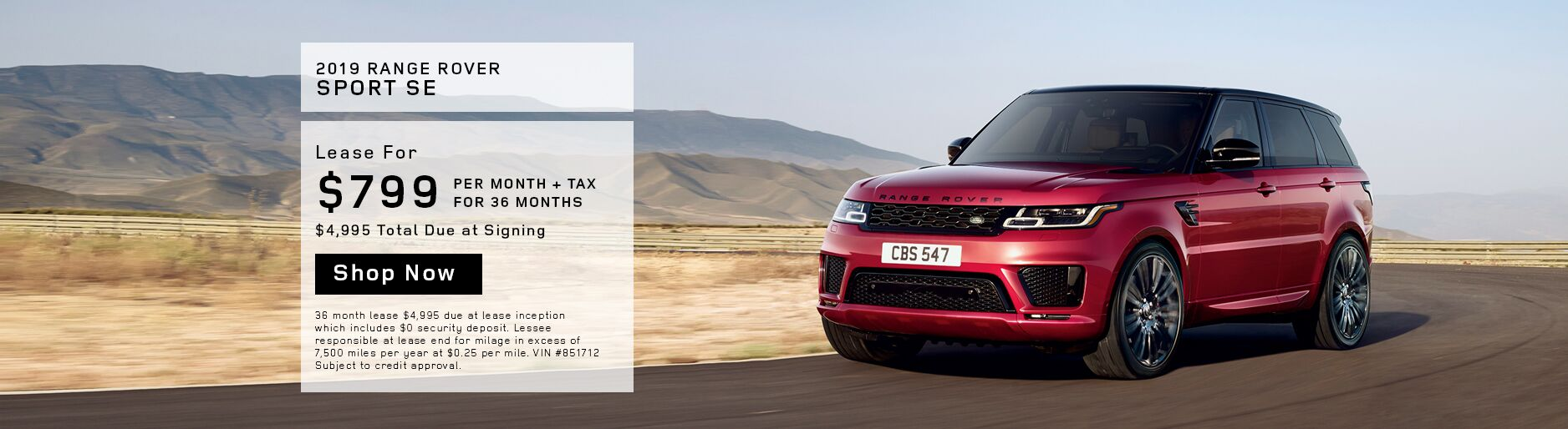 April Range Rover Sport