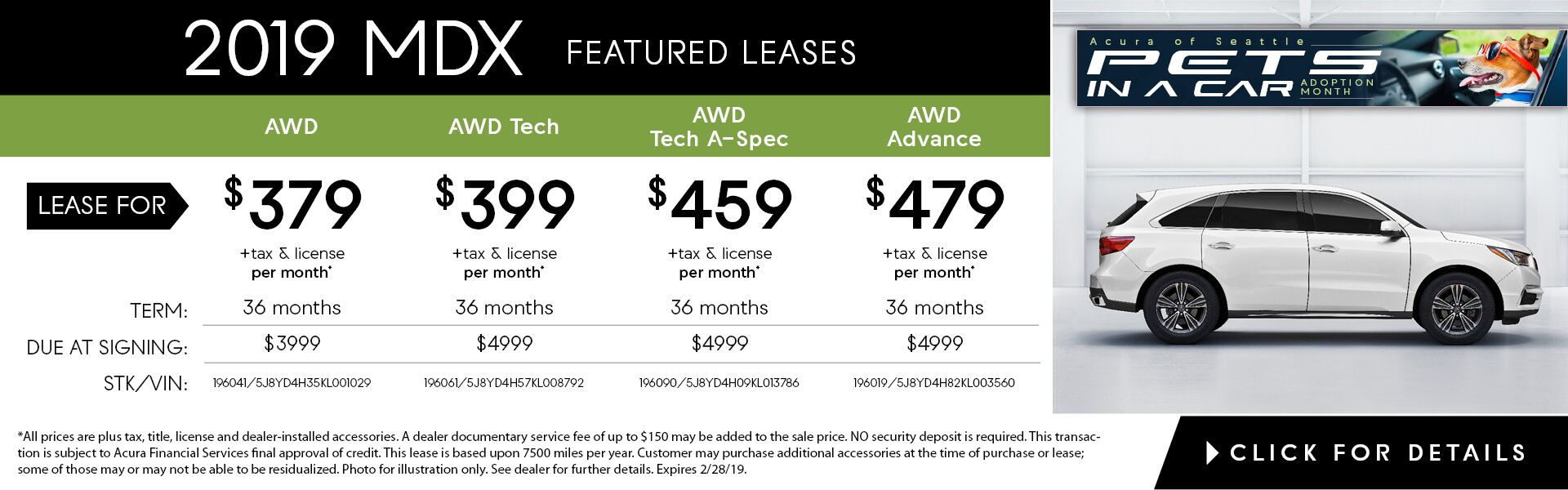 MDX Feb. Featured Lease