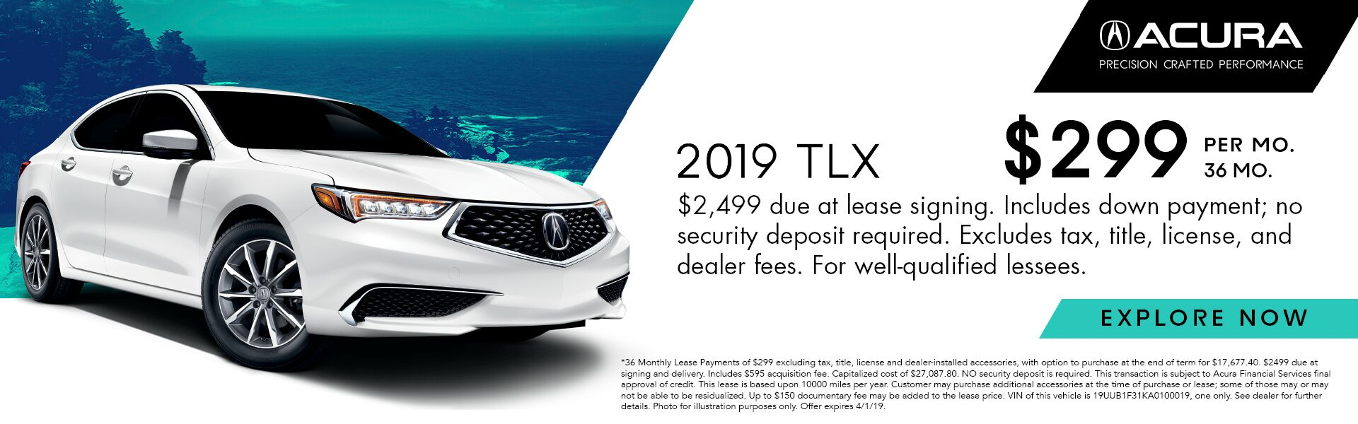 2019 Acura TLX FWD 2.4L