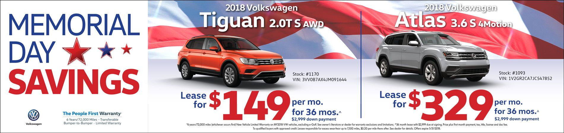 May Tiguan/Atlas