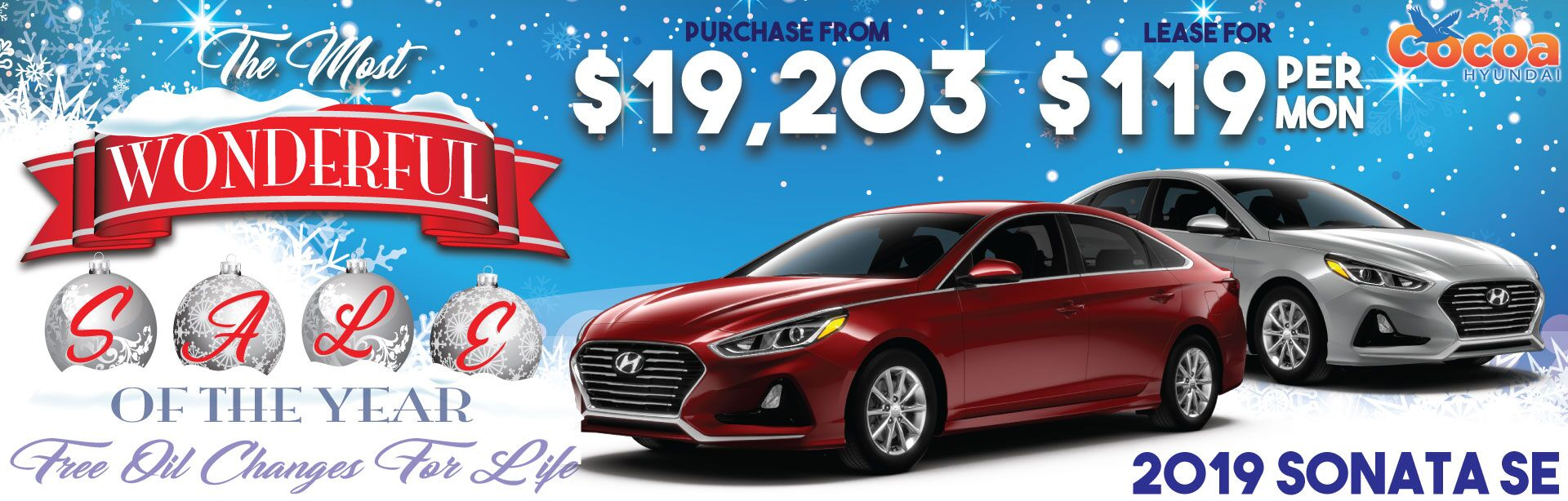 2019 Sonata Winter Sale