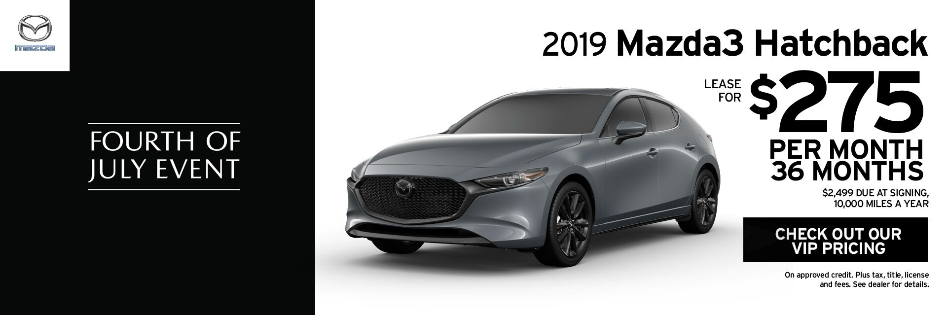 Mazda3 Hatchback - JUN 2019