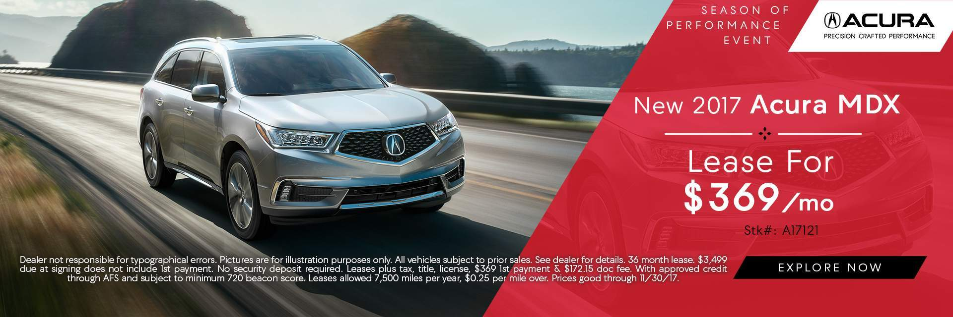 2017 MDX Lease