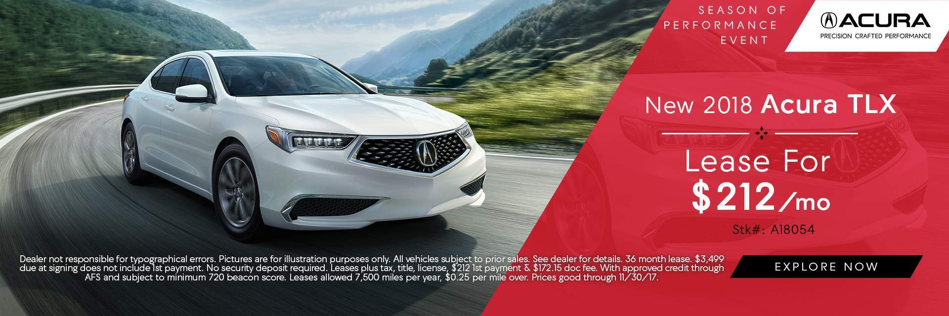 2018 TLX Lease