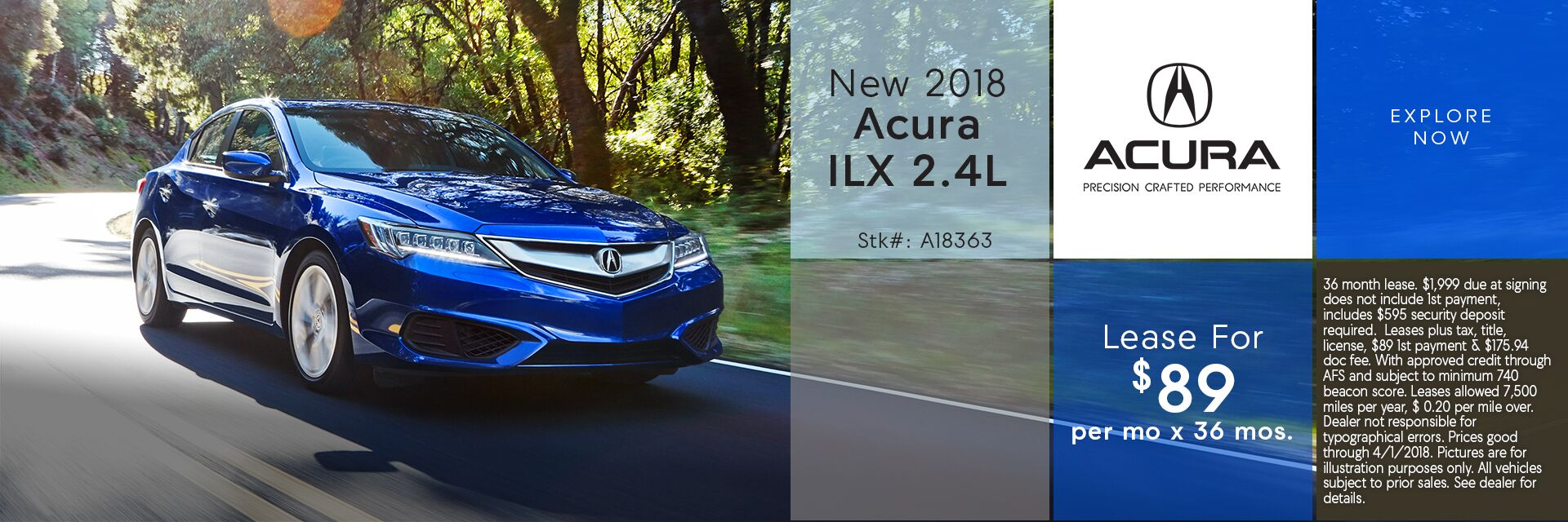 Lease the New 2018 Acura ILX