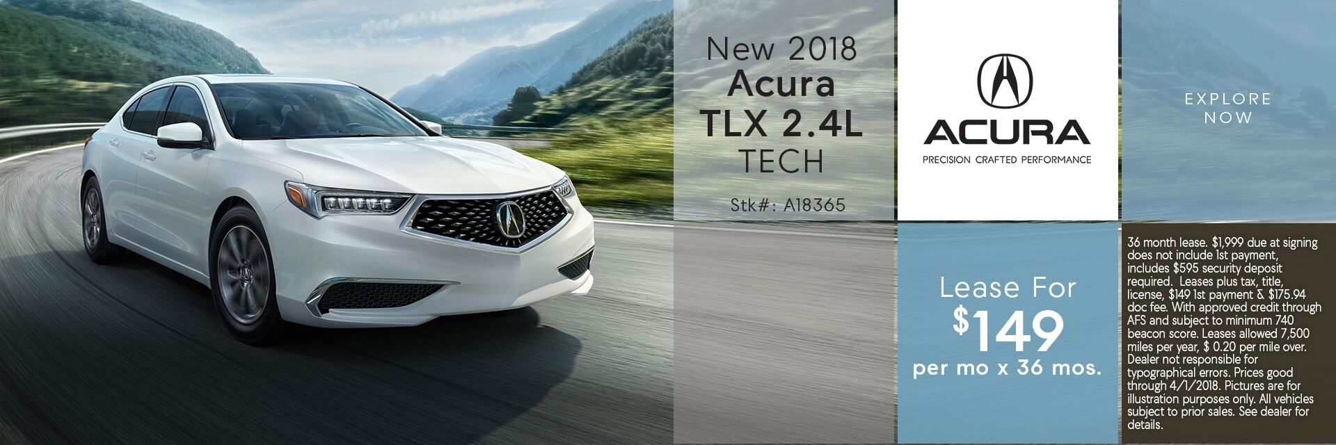 Lease the New 2018 Acura TLX