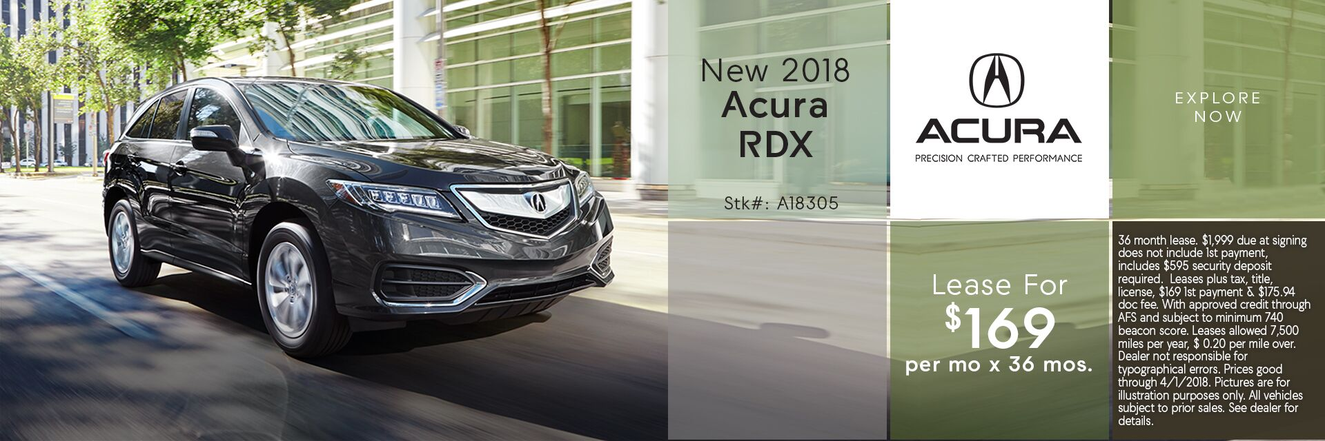Lease the New 2018 Acura RDX