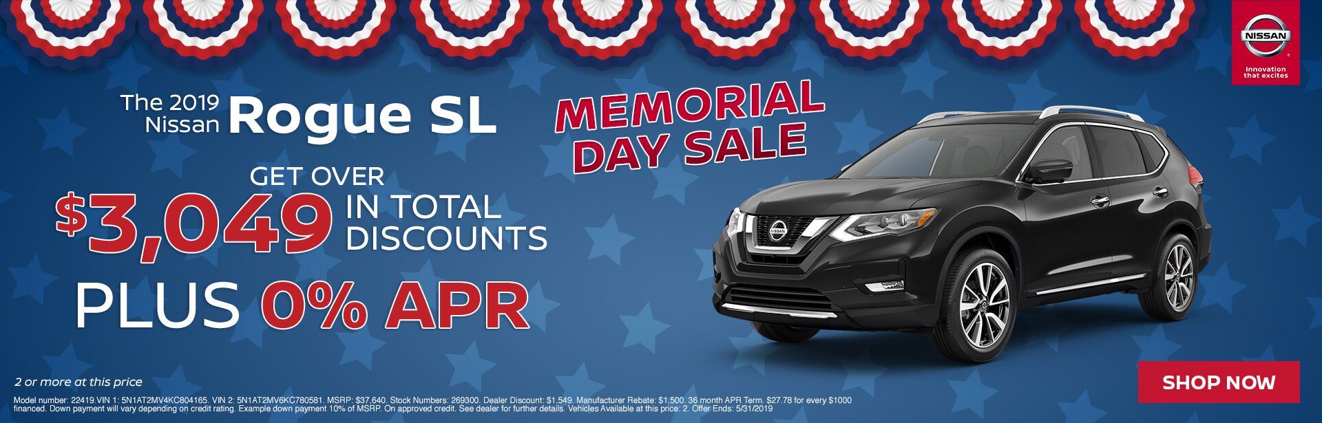 Rogue Offer- Memorial Day