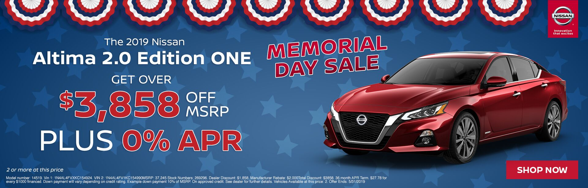 Altima Offer- Memorial Day