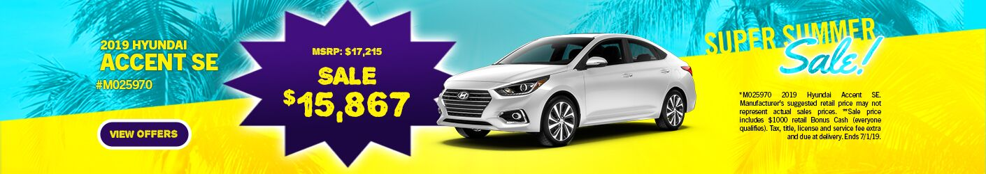 June 2019 Hyundai Accent