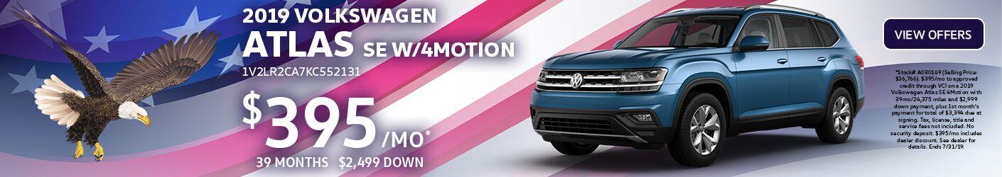 2019 Volkswagen Atlas Special