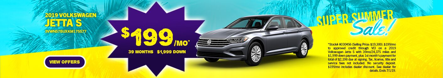 Super Summer Sale Jetta