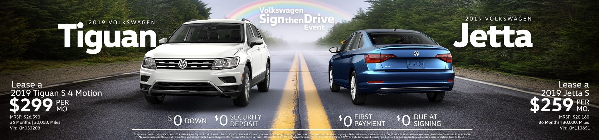 Tiguan Jetta April Specials